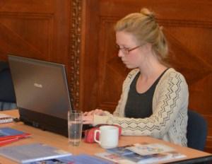 Britta Köhler konzentriert wie immer - eine großartige Unterstützung!