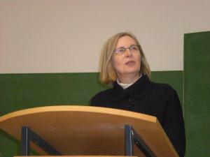 Frau Professor Dr. Steinbrügge bei der Begrüßung