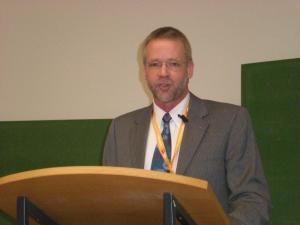 Der 1. Vorsitzende Andreas Nieweler während der Begrüßung